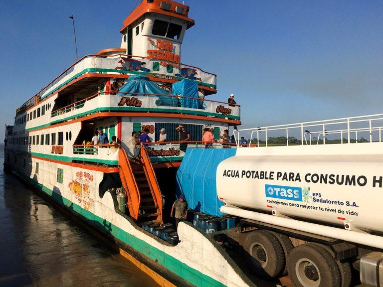 Cargo Boat Amazon River