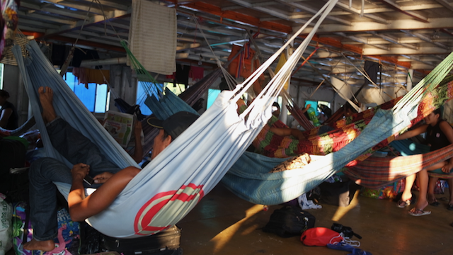 pucallpa Iquitos cargo boat hammocks everywhere
