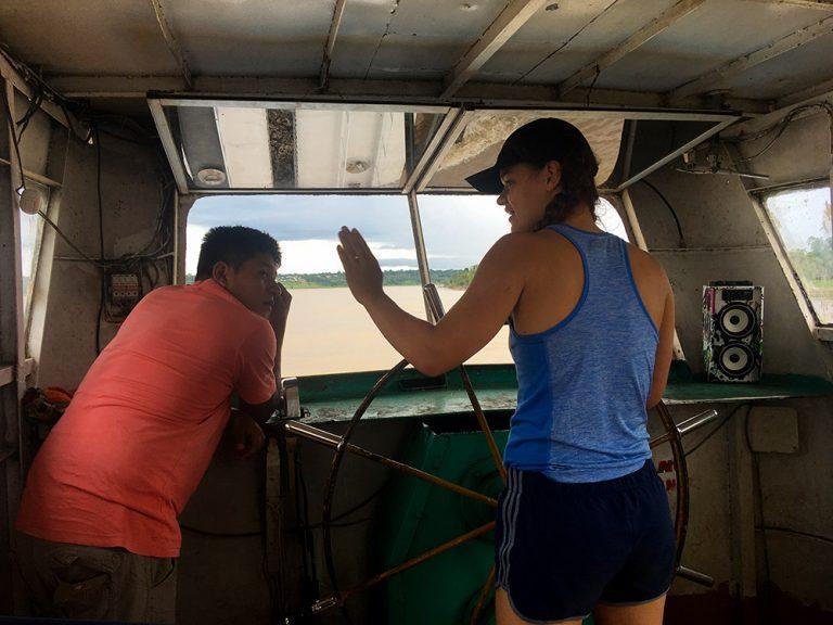 Navigating Amazon River