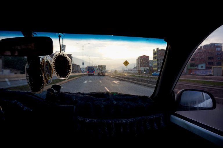 Car Peru Highway Rainbow Mountain