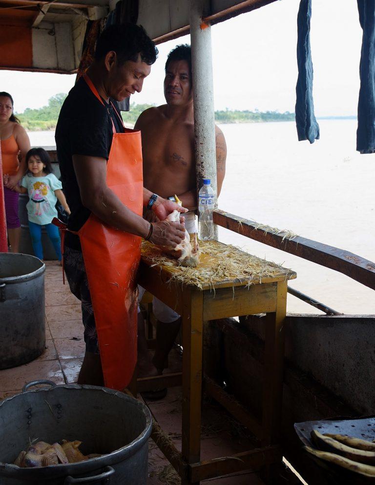 Chicken preparation Cargo boat