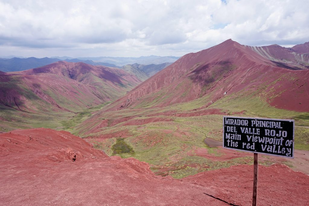 Mirador principal Viewpoint red valley Peru