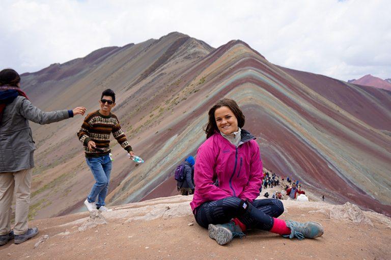 Too Many tourists rainbow mountain