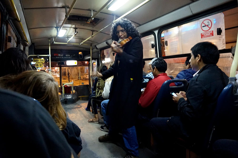 Violin Bus public transport Lima