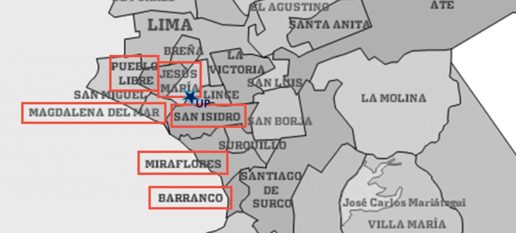 Distrito Lima Moderno Districts