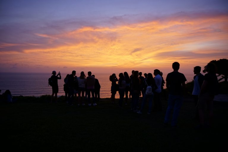 Malecon sunset Miraflores Student Exchange in Lima