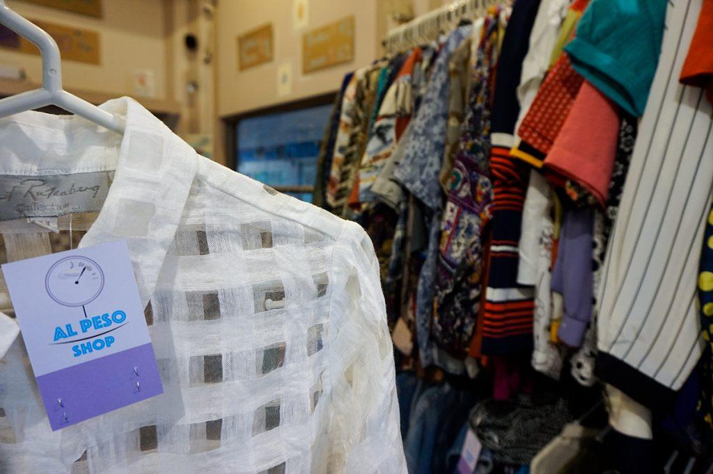 white blouse thrift shop Lima Miraflores