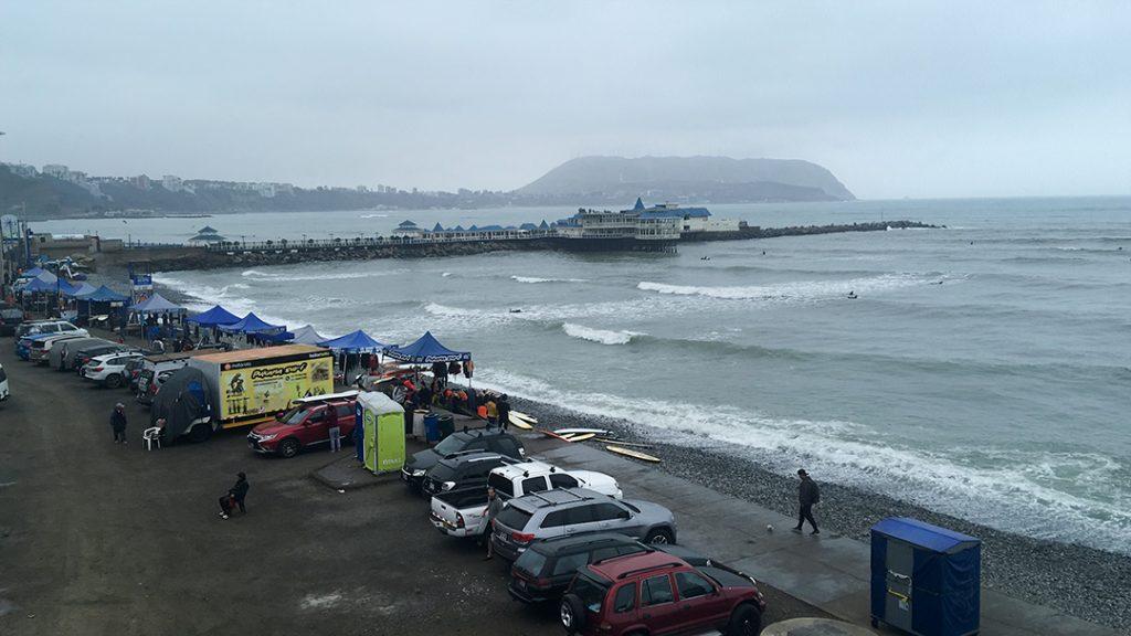 surf schools Miraflores Peru ocean