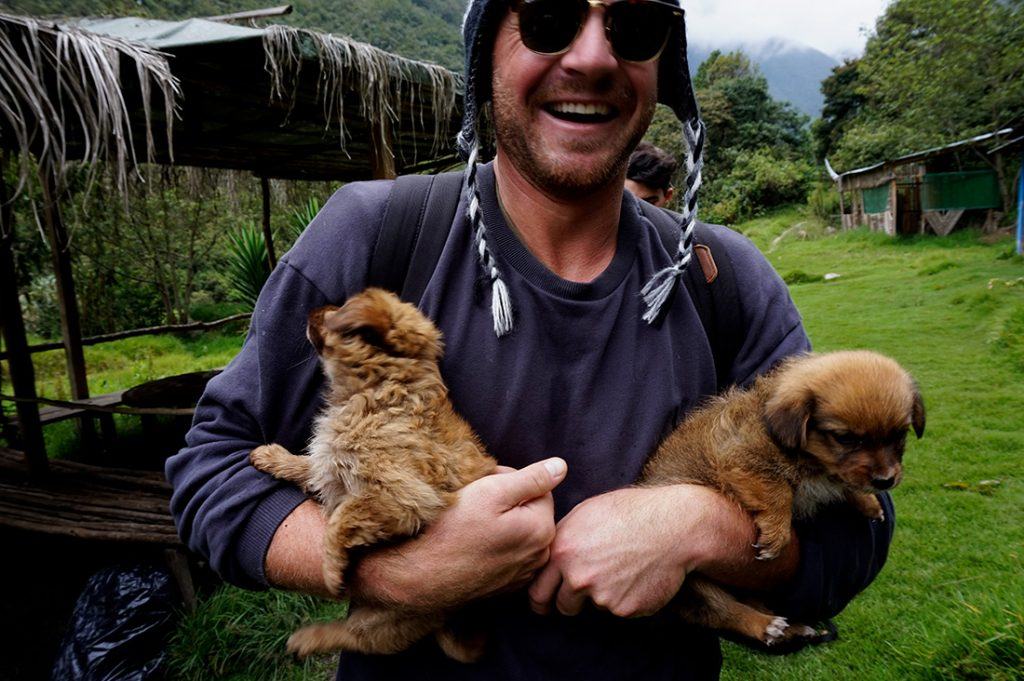 villages Salkantay trek puppies