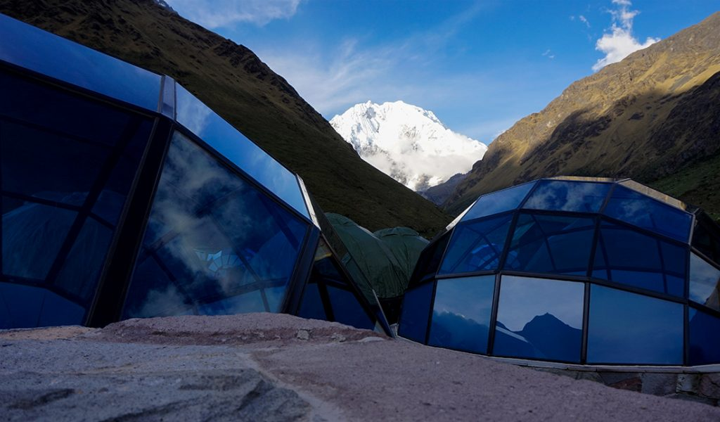 Skydomes Salkantay trekking accomodation