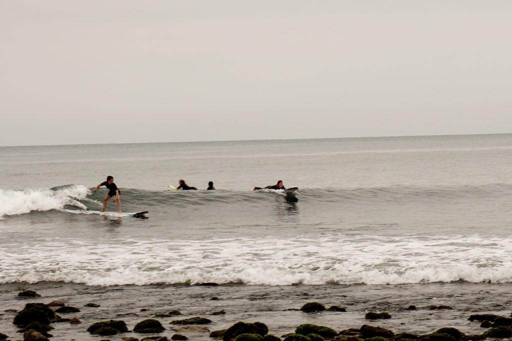 Mancora Surf Rocks Low tide