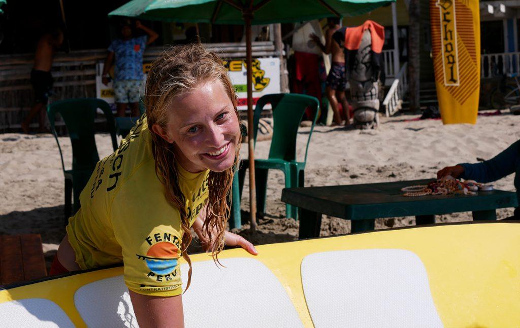 Surf Lessons Beginner Mancora Peru Board