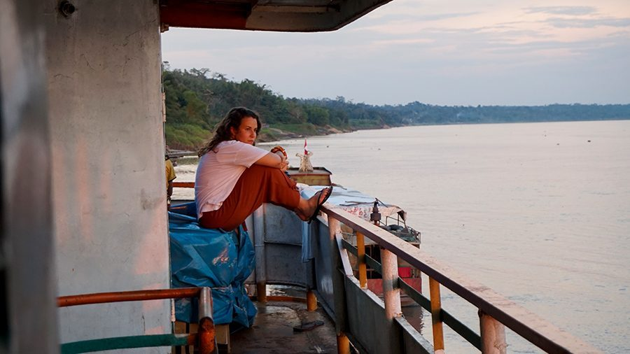 Amazon river boat Pucallpa Iquitos sunset