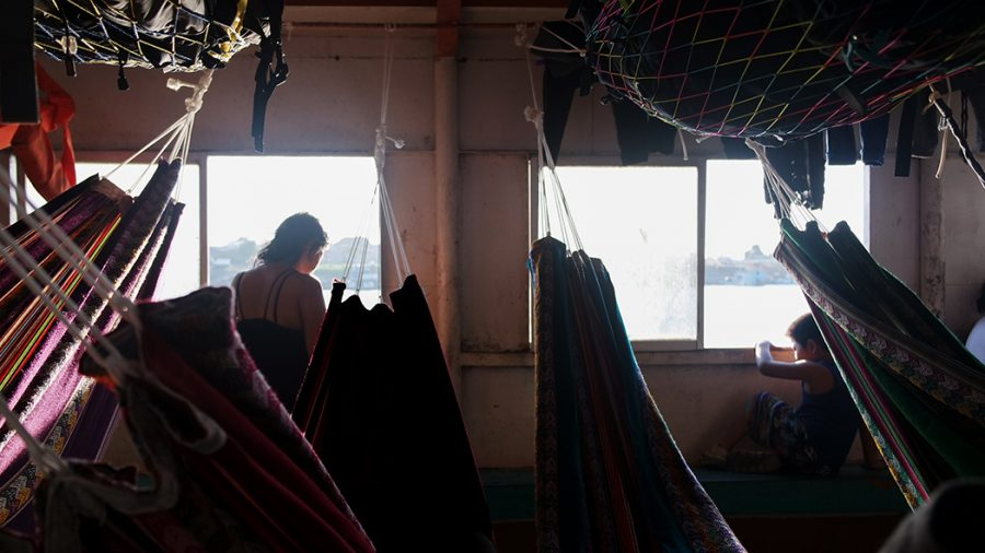 Hammocks Cargo Boat Iquitos
